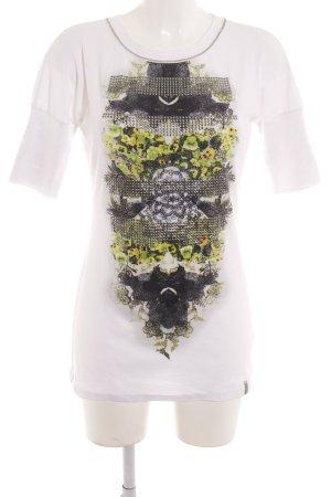 Marc Cain Ribbed Shirt abstract print casual look