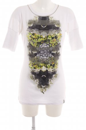 Marc Cain Geribd shirt abstracte print casual uitstraling