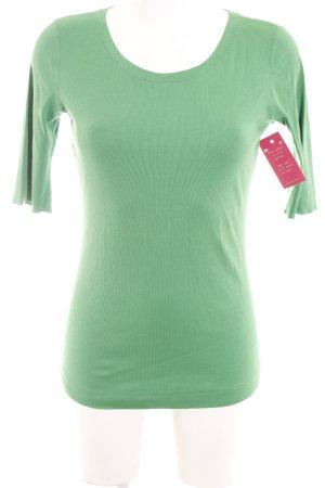 Marc Cain Ribbed Shirt green casual look