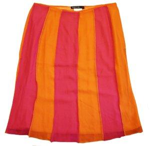 MARC CAIN Rock pink orange leicht Sommer Gr. 40