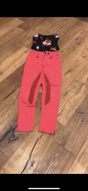Marc Cain Pantalone a sigaretta rosso mattone-magenta