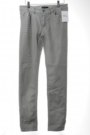 Marc Cain Drainpipe Trousers silver-colored casual look