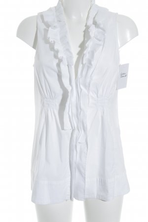 Marc Cain Ruffled Blouse white casual look