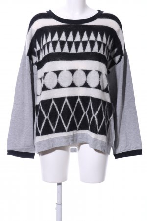 Marc Cain Rundhalspullover grafisches Muster Casual-Look