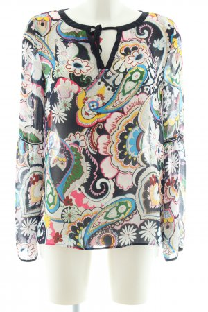 Marc Cain Blusa caída estampado con diseño abstracto look casual