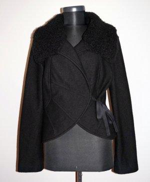 Marc Cain Schwarz 100% Virgin Wool/Schurwolle Jacke gr.N 4| 38-40