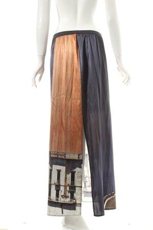 Marc Cain Silk Skirt abstract pattern