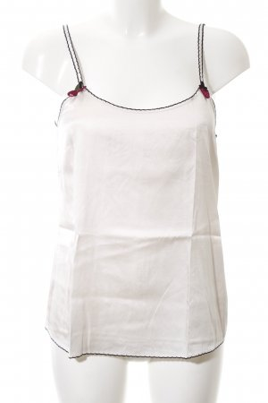 Marc Cain Silk Top white-black casual look
