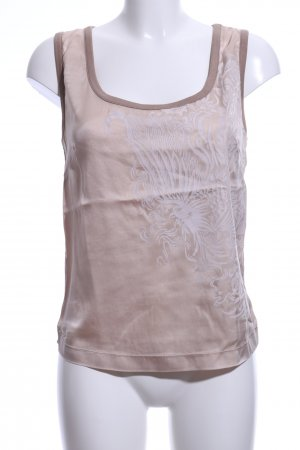 Marc Cain Silk Top bronze-colored abstract pattern casual look