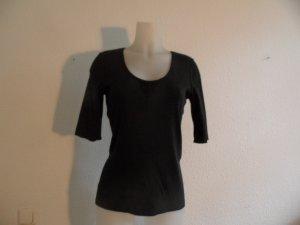 Marc Cain Shirt Baumwolle Schwarz Basis Shirt Gr. N4 / 40