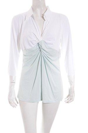 Marc Cain Shirt weiß-blassgrün Colourblocking Casual-Look