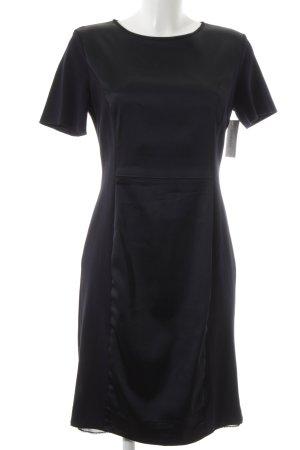 Marc Cain T-shirt jurk donkerblauw Materiaalmix-look