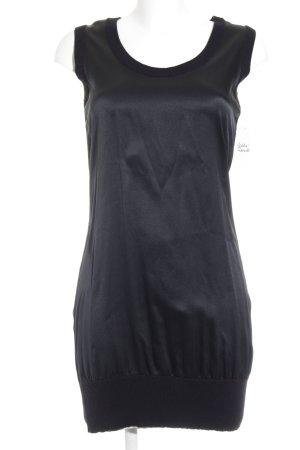 Marc Cain Shirtkleid schwarz Glanz-Optik