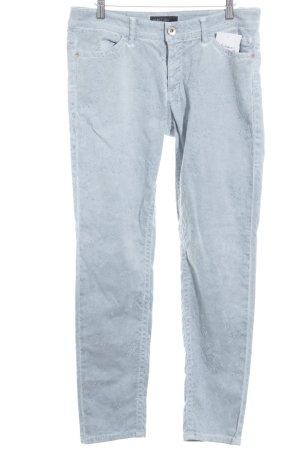 Marc Cain Skinny Jeans blassblau-himmelblau florales Muster Casual-Look