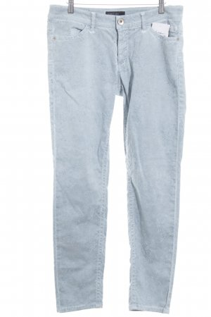 Marc Cain Jeans skinny blu pallido-azzurro motivo floreale stile casual