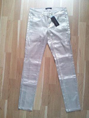 MARC CAIN Skinny Jeans gold beschichtet NEU Gr. N2