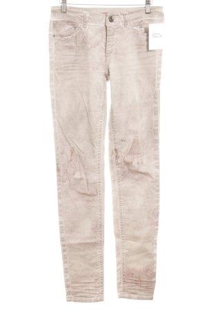 Marc Cain Skinny Jeans hellgrau-rosa Farbverlauf Casual-Look