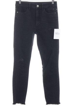 Marc Cain Skinny Jeans schwarz minimalistischer Stil