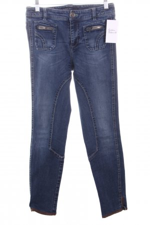 Marc Cain Skinny Jeans wollweiß-dunkelbraun Washed-Optik
