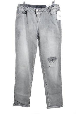 Marc Cain Slim Jeans hellgrau-dunkelgrau Washed-Optik