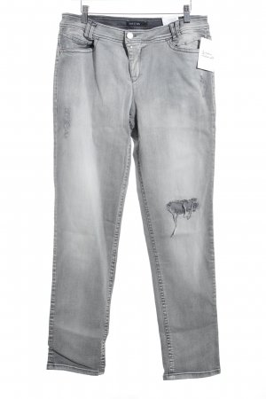 Marc Cain Slim Jeans hellgrau-dunkelgrau Washed-Optik