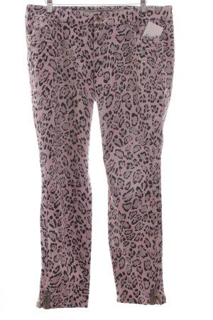 Marc Cain Slim Jeans schwarz-rosé Leomuster extravaganter Stil