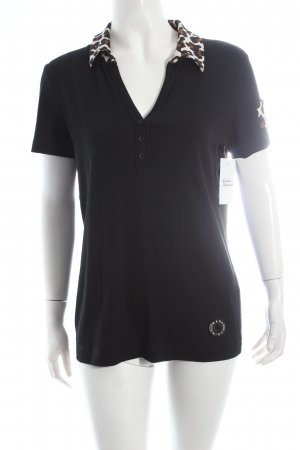 Marc Cain Sport Polo-Shirt Leomuster Logo-Applikation