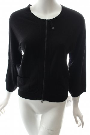 Marc Cain Sport Strickjacke schwarz Casual-Look
