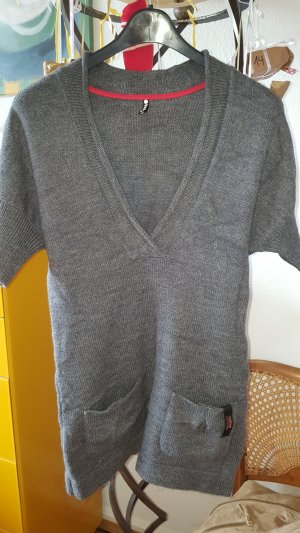 Marc Cain Long Sweater grey-light grey alpaca wool