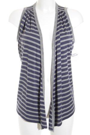 Marc Cain Sports Cardigan grau-dunkelblau Streifenmuster