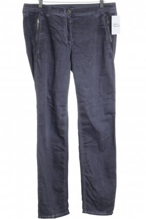 Marc Cain Sports Low-Rise Trousers dark blue-steel blue casual look
