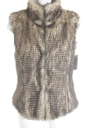 Marc Cain Sports Fake Fur Vest black-cream fluffy