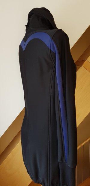 Marc Cain Sports Long Scuba Jersey Jacket, N3, Gr. 38/40  Schwarz/Blau