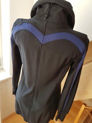 Marc Cain Veste longue noir-bleu foncé nylon