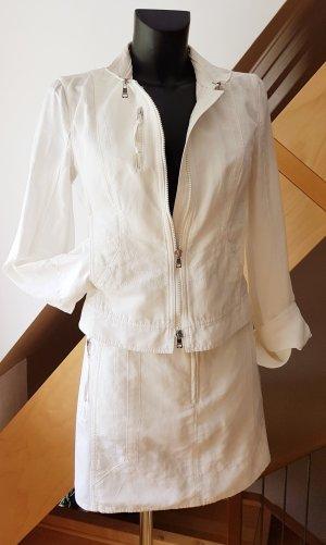 Marc Cain Tailleur blanc tissu mixte