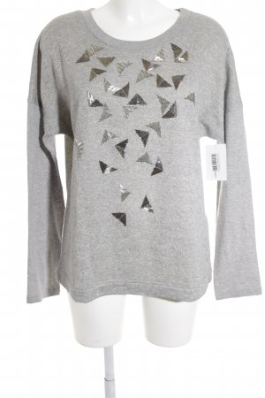 Marc Cain Sports Sweatshirt hellgrau-silberfarben Glitzer-Optik