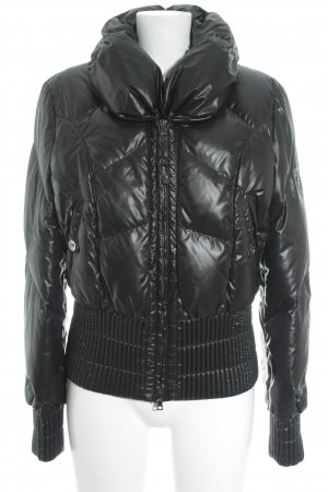 Marc Cain Quilted Jacket black quilting pattern retro look