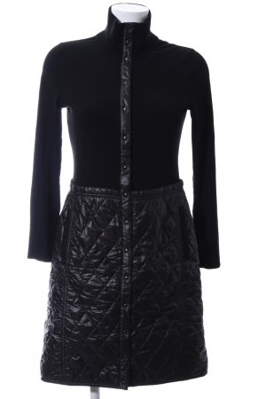 Marc Cain Quilted Coat black quilting pattern business style