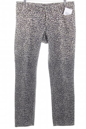Marc Cain Straight-Leg Jeans Leomuster Animal-Look