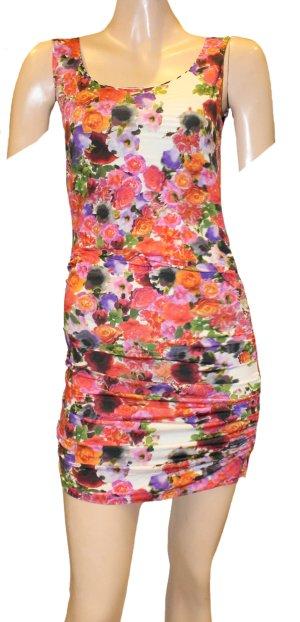 MARC CAIN Strand Sommer Kleid bunt Jersey Gr. 36/38
