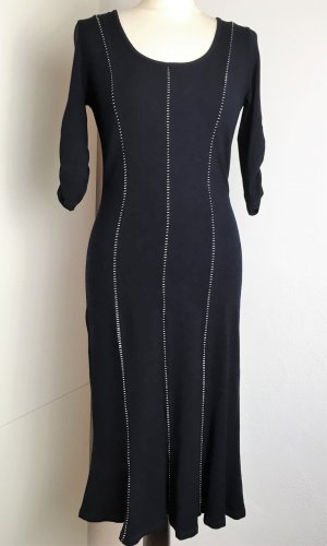 Marc Cain Knitted Dress white-black mixture fibre