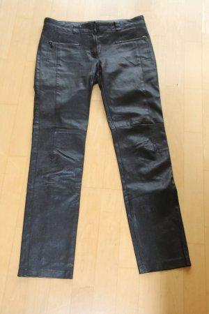 Marc Cain Stretch- Lederhose echtes Leder GR. 38, schwarz marccain