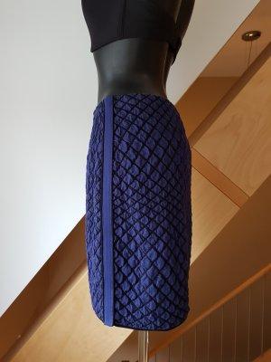 Marc Cain Gonna lavorata a maglia nero-blu scuro Tessuto misto