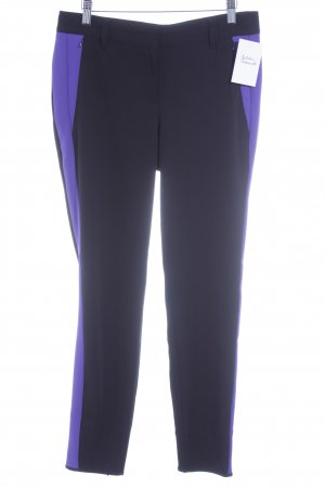 Marc Cain Stretch Trousers black-lilac color blocking '80s style