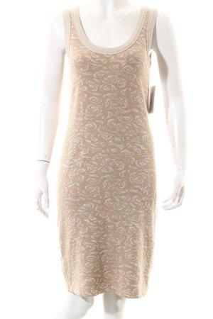 Marc Cain Stretchkleid beige-goldfarben Elegant