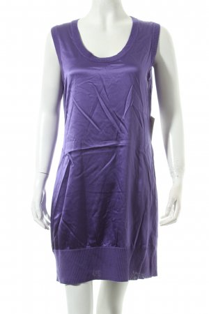 Marc Cain Stretchkleid lila Glanz-Optik