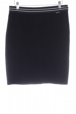 Marc Cain Stretchrock schwarz Casual-Look
