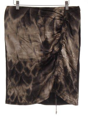Marc Cain Stretchrock schwarz-graubraun abstraktes Muster Street-Fashion-Look
