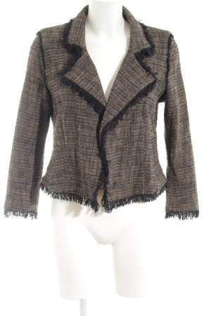 Marc Cain Knitted Blazer black-nude flecked business style