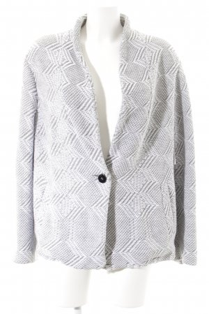 Marc Cain Strickblazer grafisches Muster Boyfriend-Look